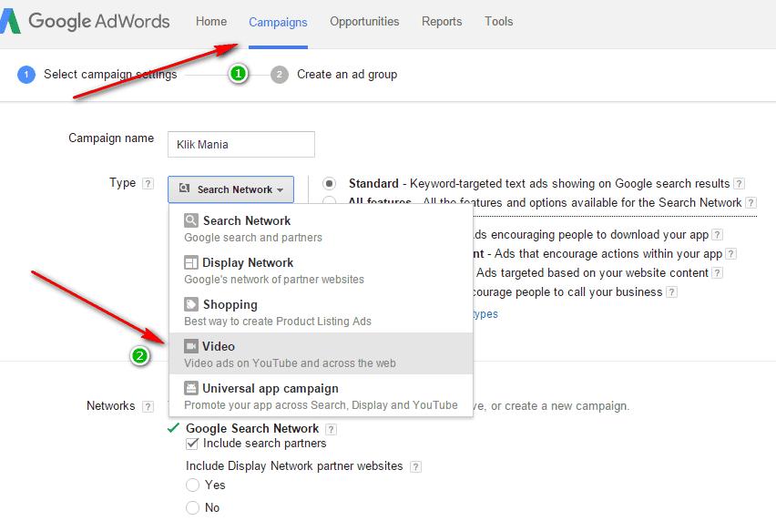 Cara memasang Iklan Google Adwords